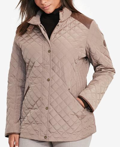 Lauren Ralph Lauren Plus Size Quilted Jacket - Coats - Women - Macy's : quilted jacket plus size - Adamdwight.com