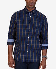 Nautica Men's Big & Tall Maritime Plaid Shirt
