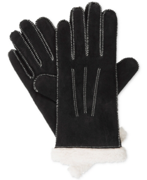 Isotoner Signature Women's Suede Moccasin Stitch Gloves