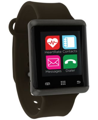 Unisex Pulse Olive Green Silicone Strap Smart Watch 45mm, Created for Macy's