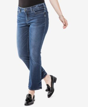 Silver Jeans Co. Trendy Plus Size Aiko Slim Cropped Boot-Cut Jeans 5162621