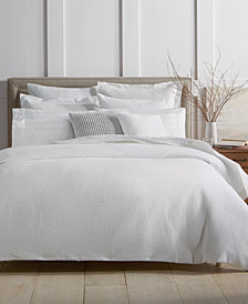 Charter Club Damask Designs Diamond Dot Cotton 300-Thread Count 3-Pc. Full/Queen Duvet Cover Set, Created for Macy's