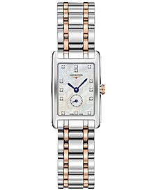 Women's Swiss DolceVita Diamond-Accent 18k Rose Gold & Stainless Steel Bracelet Watch 21x32mm