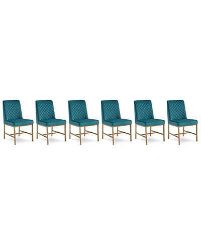 Cambridge Dining Chair 6-Pc. Set (6 Teal Side Chairs)