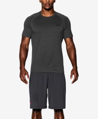 Under Armour Men Athletic Shirt UA Tech HeatGear Short Sleeve Crew Neck T-Shirt