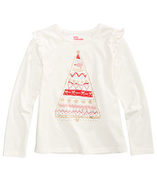 Epic Threads Mix and Match Ruffle Holiday T-Shirt, Little Girls (4-6X), Created for Macy's