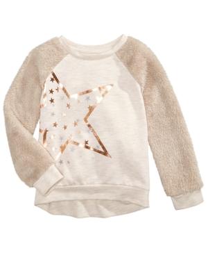 Epic Threads Faux Fur Sleeve Sweatshirt Little Girls (46X) Created for Macys