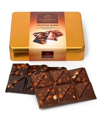 Godiva 12 Pc Almond Bark Gift Tin Gourmet Food Gifts Dining