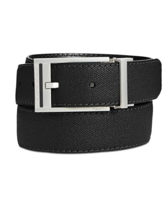 Men's Reversible Leather Stitched Casual Belt