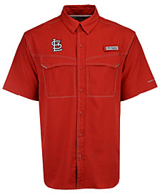 Columbia Men's St. Louis Cardinals Low Drag Short Sleeve Shirt