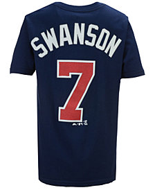 Majestic Dansby Swanson Atlanta Braves Official Player T-Shirt, Big Boys (8-20)