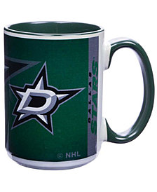 Dallas Stars 15oz Super Fan Inner Color Mug
