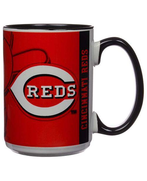 Memory Company Cincinnati Reds 15oz Super Fan Inner Color Mug