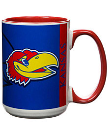Kansas Jayhawks 15oz Super Fan Inner Color Mug