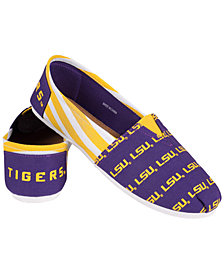 Women's LSU Tigers Canvas Stripe Shoes