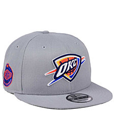 New Era Oklahoma City Thunder Gray Pop 9FIFTY Snapback Cap
