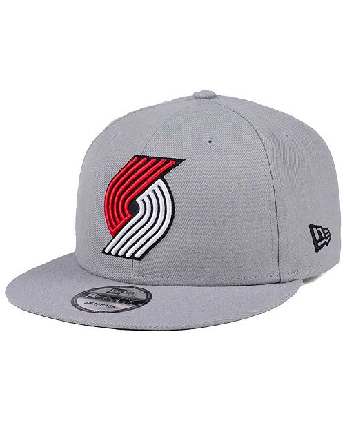 e7f1f6aabd44d9 ... New Era Portland Trail Blazers Gray Pop 9FIFTY Snapback Cap ...