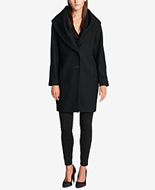 DKNY Shawl-Collar Walker Coat