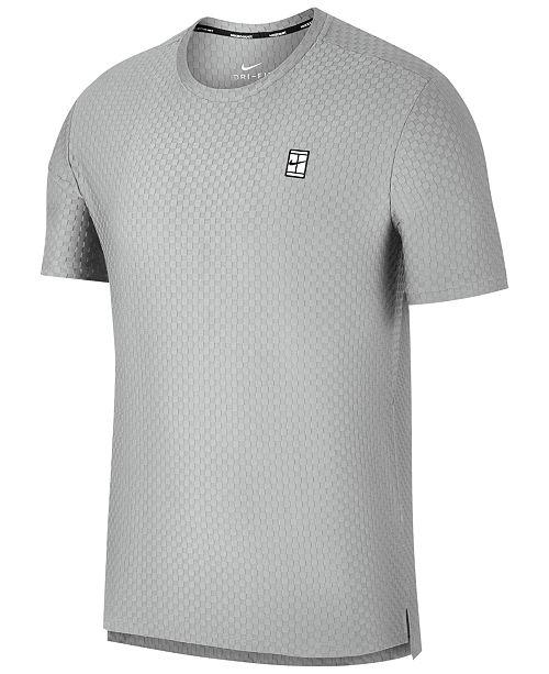 f51f3d71b487 Nike Men s NikeCourt Dri-Fit Tennis T-Shirt   Reviews - T-Shirts ...
