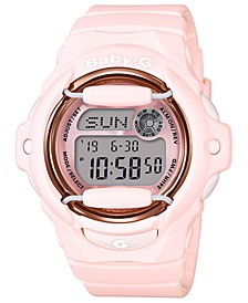 Women's Analog-Digital Pink Resin Strap Watch 43mm