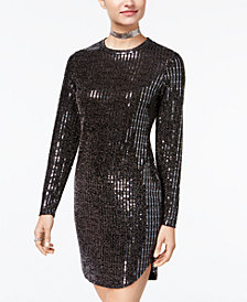 B Darlin Juniors' Disco-Dot Bodycon Dress