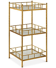 Tilly Gold Accent Shelf Table, Quick Ship