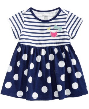 First Impressions Stripes  Dots Tunic Baby Girls (024 months) Created for Macys