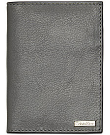 Calvin Klein Men's Pebble Leather Folding Card Case