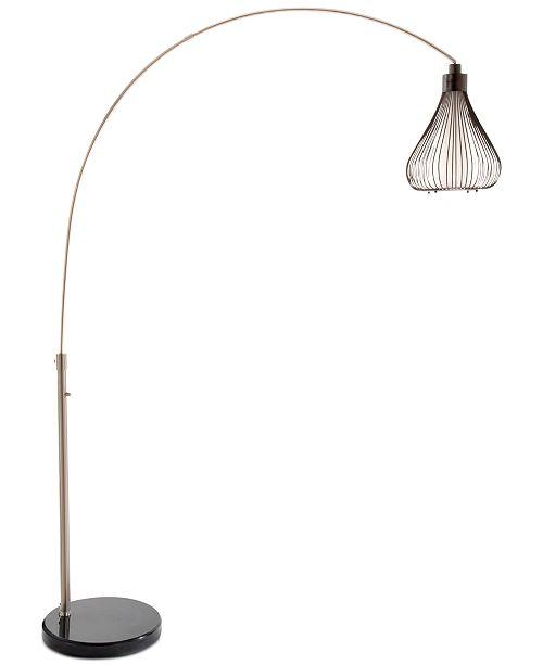 Nova lighting teardrop arc floor lamp lighting lamps home macys main image main image aloadofball Images
