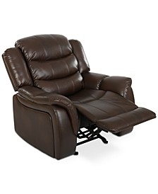 Olyena Faux Leather Glider Recliner
