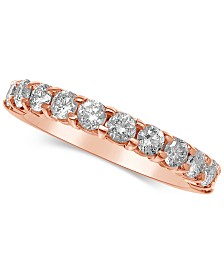Diamond Gold Band 1 Ct Tw In 14k Rose Or