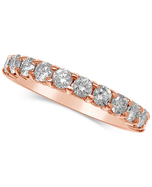Macy's Diamond Gold Band (1 ct. t.w.) in 14k Gold, Rose Gold or White Gold