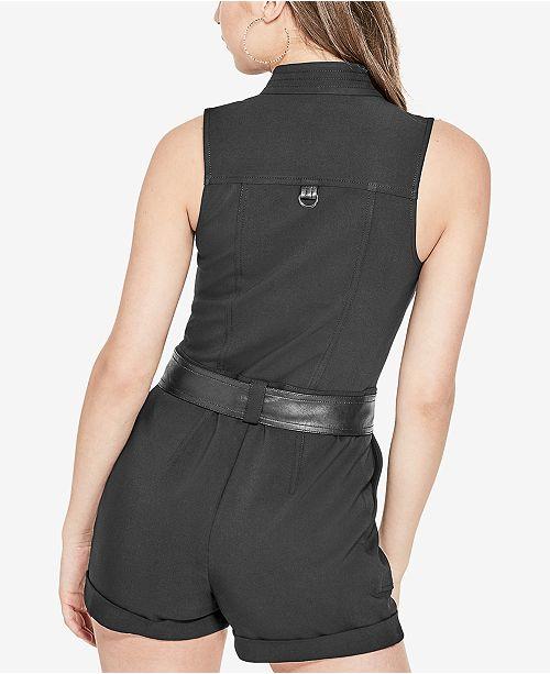 4f26eec3bae6 GUESS Axel Moto Romper   Reviews - Shorts - Women - Macy s