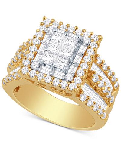 Diamond Ring 3 Ct Tw In 14k Gold Or White