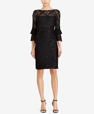 Lauren Ralph Lauren Sequined Lace Dress