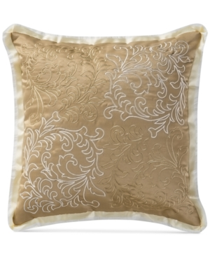 Waterford Ansonia Ivory 16 Square Decorative Pillow Bedding