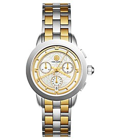 Women's Tory Classic Chronograph Two-Tone Stainless Steel Bracelet Watch 38mm