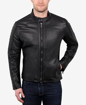William Rast Men S Leather Moto Jacket Amp Reviews Coats