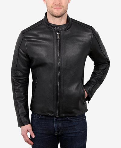 WILLIAM RAST Men's Leather Moto Jacket - Coats & Jackets - Men ...