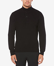 Perry Ellis Men's Button Collar Sweater