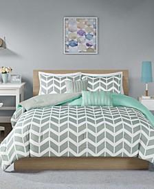 Nadia 5-Pc. Reversible Full/Queen Comforter Set