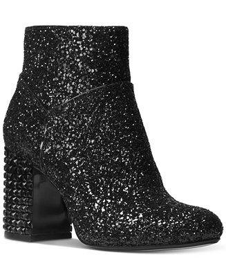 Michael Kors Arabella Glitter Ankle Booties Amp Reviews