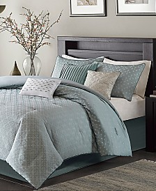 Madison Park Biloxi 7-Pc. Geometric Jacquard King Comforter Set