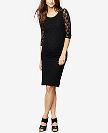 Isabella Oliver Maternity Lace Sheath Dress