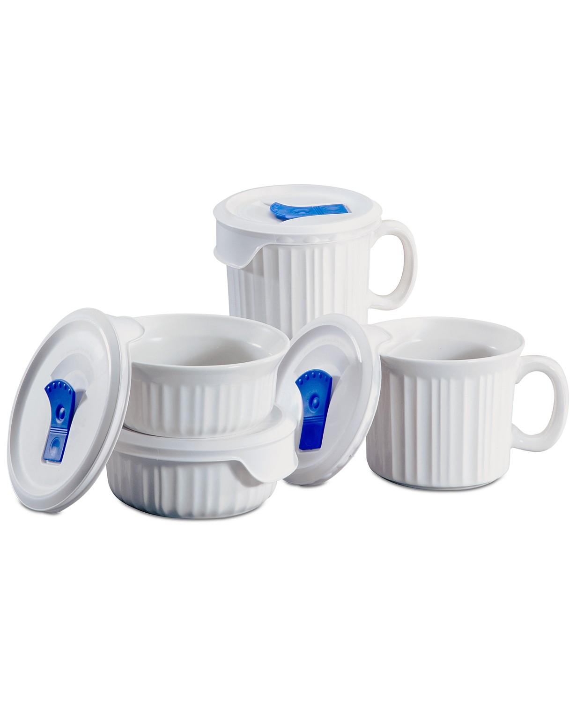 8-Piece CorningWare French White Pop-Ins Mug Set