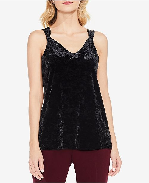 56472090c2f790 Vince Camuto Crushed Velvet Tank Top   Reviews - Tops - Women ...