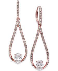 Danori Silver-Tone Elongated Teardrop Drop Earrings, Created for Macy's