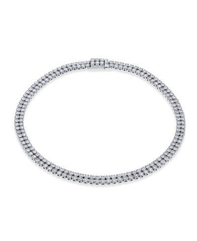 Diamond Double Layer Tennis Bracelet (3 ct. t.w.) in 14k White Gold