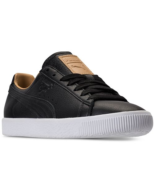 eaae5955acc6ad Puma Women s Clyde Core Leather Casual Sneakers from Finish Line ...