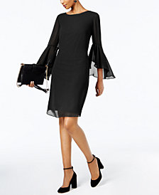 I.N.C. Petite Bell-Sleeve Shift Dress, Created for Macy's
